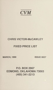 Chris Victor-McCawley Fixed Price List #27
