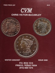 Chris Victor-McCawley Fixed Price List #80