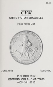 Chris Victor-McCawley Fixed Price List #40