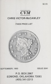 Chris Victor-McCawley Fixed Price List #41