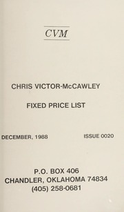 Chris Victor-McCawley Fixed Price List #20