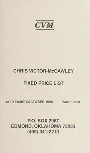 Chris Victor-McCawley Fixed Price List #29