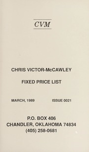 Chris Victor-McCawley Fixed Price List #21