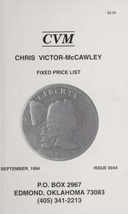Chris Victor-McCawley Fixed Price List #44
