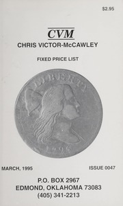 Chris Victor-McCawley Fixed Price List #47