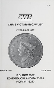 Chris Victor-McCawley Fixed Price List #53