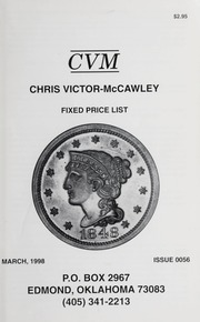 Chris Victor-McCawley Fixed Price List #56