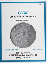 Chris Victor-McCawley Fixed Price List #58