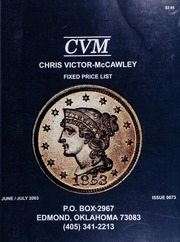 Chris Victor-McCawley Fixed Price List #73