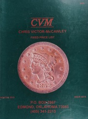Chris Victor-McCawley Fixed Price List #74