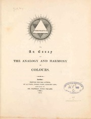 chromatics or an essay on the analogy and harmony of colours  chromatics or an essay on the analogy and harmony of colours