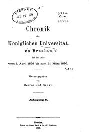 Chronik der königlichen Universität zu Breslau