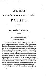 DE PDF TABARI CHRONIQUE