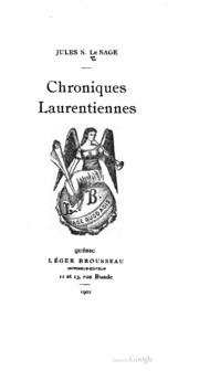 Chroniques Laurentiennes