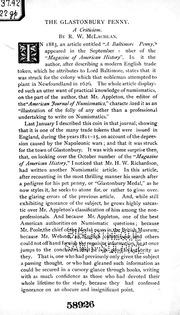 The Glastonbury penny [microform] : a criticism