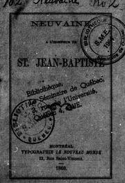 Neuvaine à l-honneur de St. Jean-Baptiste microforme