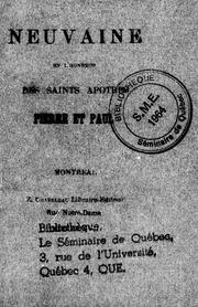 Neuvaine en l-honneur des saints apôtres Pierre et Paul microforme