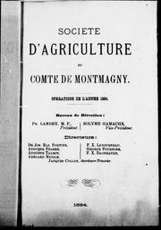 Opérations de l-année 1884 microforme