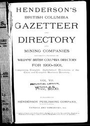 Henderson's British Columbia gazetteer and directory and mining
