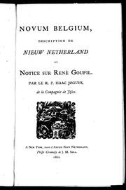 Novum Belgium microform : description de Nieuw Netherland et notice sur René Goupil