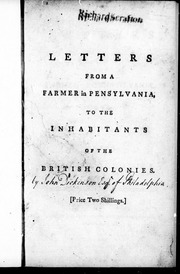 letters from a farmer in pennsylvania letters from a farmer in pennsylvania to the inhabitants 37685
