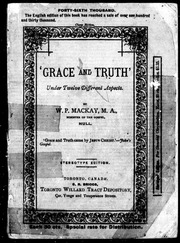 -Grace and truth- under twelve different aspects microform