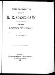 Oeuvres complètes de l-abbé H.R. Casgrain microforme