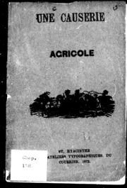 Une Causerie agricole microforme