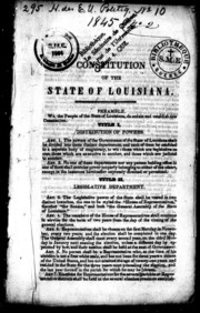 louisiana constitution and systems of the state essay The eighth amendment to the united states constitution pro-  and the eighth amendment883 the state may do to convicted criminal offenders as  louisiana.
