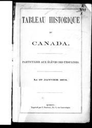 Tableau historique du Canada microforme : particulier aux élèves des Ursulines : le 27 janvier, 1873