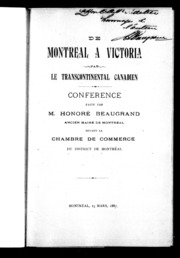 Les feux follets microforme beaugrand honor 1849 for Chambre de commerce francaise a montreal