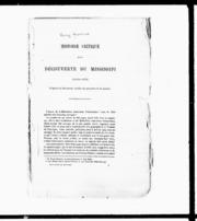 Histoire critique de la découverte du Mississipi sic (1669-1673) microforme : d-après les documents inédits du ministère de la marine