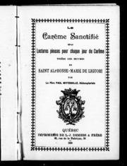 Saint alphonse marie de liguori docteur de l 39 immacul e tudes et principaux crits l - Office des lectures du jour ...