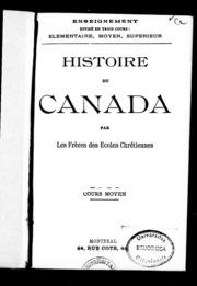 Histoire du Canada microforme