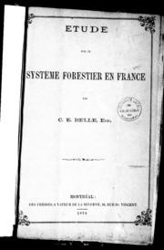 Étude sur le système forestier en France microforme