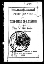Petit manuel du Tiers-Ordre de S. François microforme