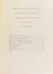 CIN Newsletter 11 (October 1985) : lettre d'information / Ed. H.A. Cahn.