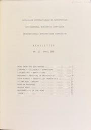 CIN Newsletter 12 (April 1986) : lettre d'information / Ed. H.A. Cahn.