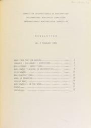 CIN Newsletter 2 (February 1981) : lettre d'information / Ed. H.A. Cahn.