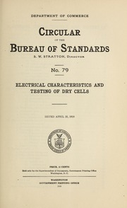 circular of the bureau of standards no 390 american standard specifications for dry cells and. Black Bedroom Furniture Sets. Home Design Ideas