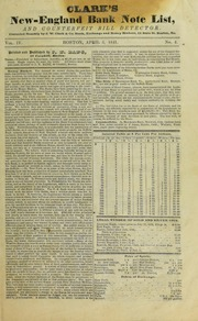 Clark's New-England Bank Note List and Counterfeit Detector