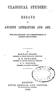 classical studies essay