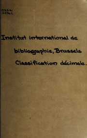 Classification décimale;