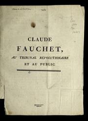 Claude Fauchet, au Tribunal révolutionaire et au public
