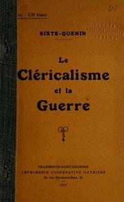Cléricalisme et la guerre.