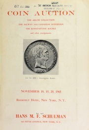Coin auction : the Arlow collection ... [11/18-20/1965]