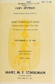 Coin auction ... : rare world gold coins ... [12/09-10/1966]
