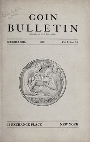 Coin Bulletin: March-April 1929