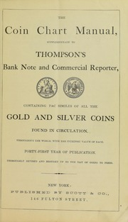 Coin Chart Manual - Supplementary to Thompson's Bank Note & Commercial Reporter