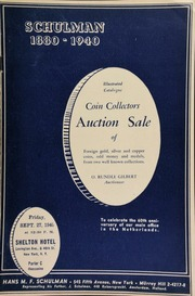 Coin collectors auction sale of foreign gold, silver and copper coins, odd money and medals, from two well-known collections, ... to celebrate the 60th anniversary of our main office in the Netherlands ... [09/27/1940]